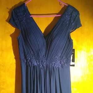 Navy Long Evening Gown NWT